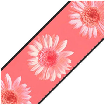 York Wallcoverings 12440421 Pink Daisy Flowers Prepasted Wallpaper Border Roll