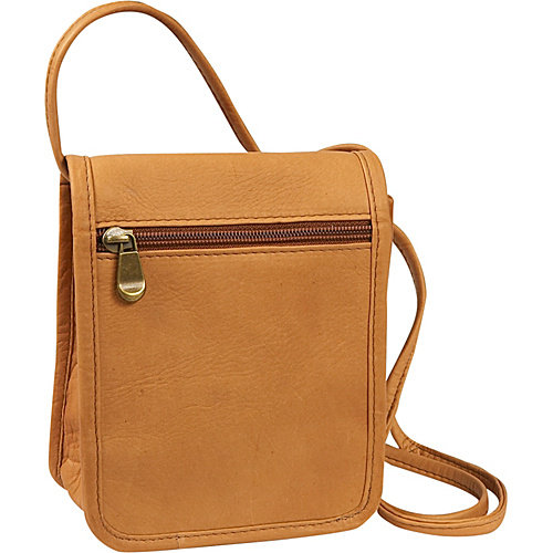 LeDonne  Leather Mini Flap-over Crossbody Handbag