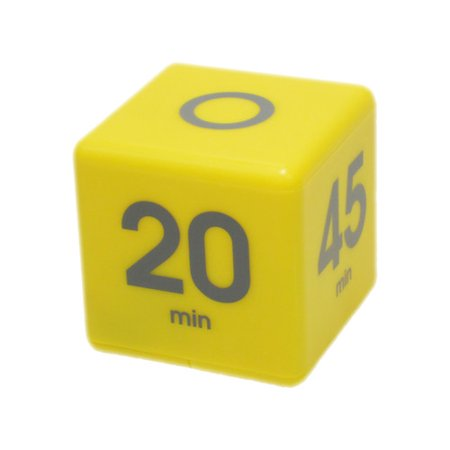Cube Timer 5-10-20-45 minute preset timer- Yellow (Df 01b Timer)