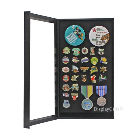 Pin Collector's Display Case Shadow Box-for Disney, Olympic, Political Campaign Pins, and Medals