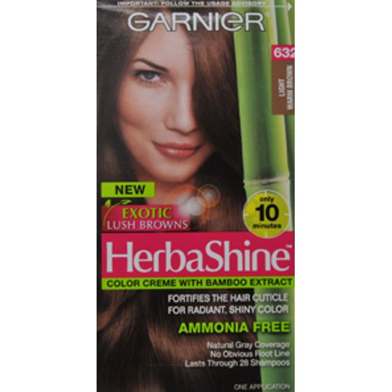 Garnier Herbashine Haircolor 632 Light Warm Brown Walmart