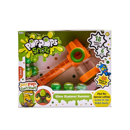 Pop Pops Snotz Slime Slammer Hammer Play Set - 18 Bubbles