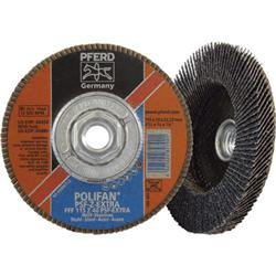 Pferd 44679 Zirconia Flap Disc   10 Pack  4  25 X 0  75 X 0  625 Inch  11   40 Grit   Model No   60486