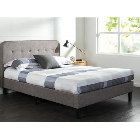 Zinus Melodey Upholstered Curved Platform Bed, Multiple