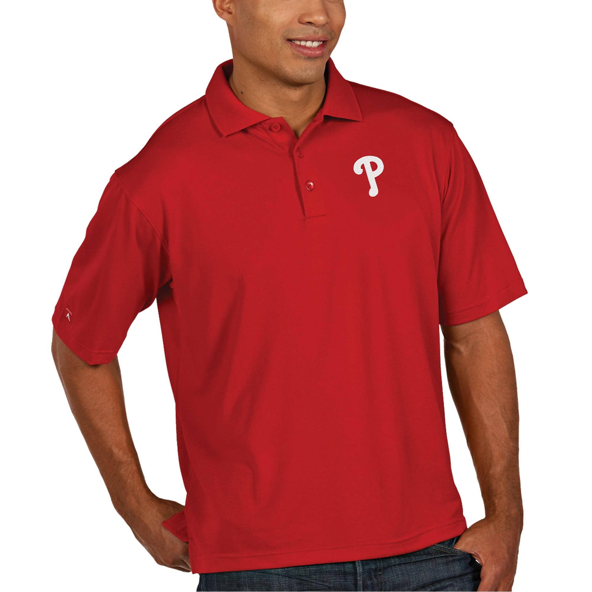 Philadelphia Phillies Antigua Pique Xtra Lite Big & Tall Polo - Red