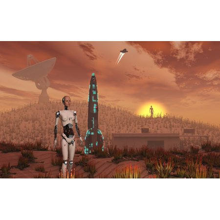 An Area Known As Area 51 Testing Out Alien Botany In Desert Conditions Canvas Art   Mark Stevensonstocktrek Images  18 X 12