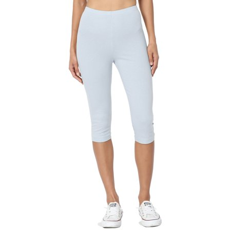 Puma Stretch Leggings - TheMogan Women's S~3X Basic Stretch Cotton Span Below Knee Length Capri Leggings