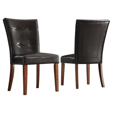 Parson Tufted Vinyl Chairs - Set of (Vinyl Parson Chair)