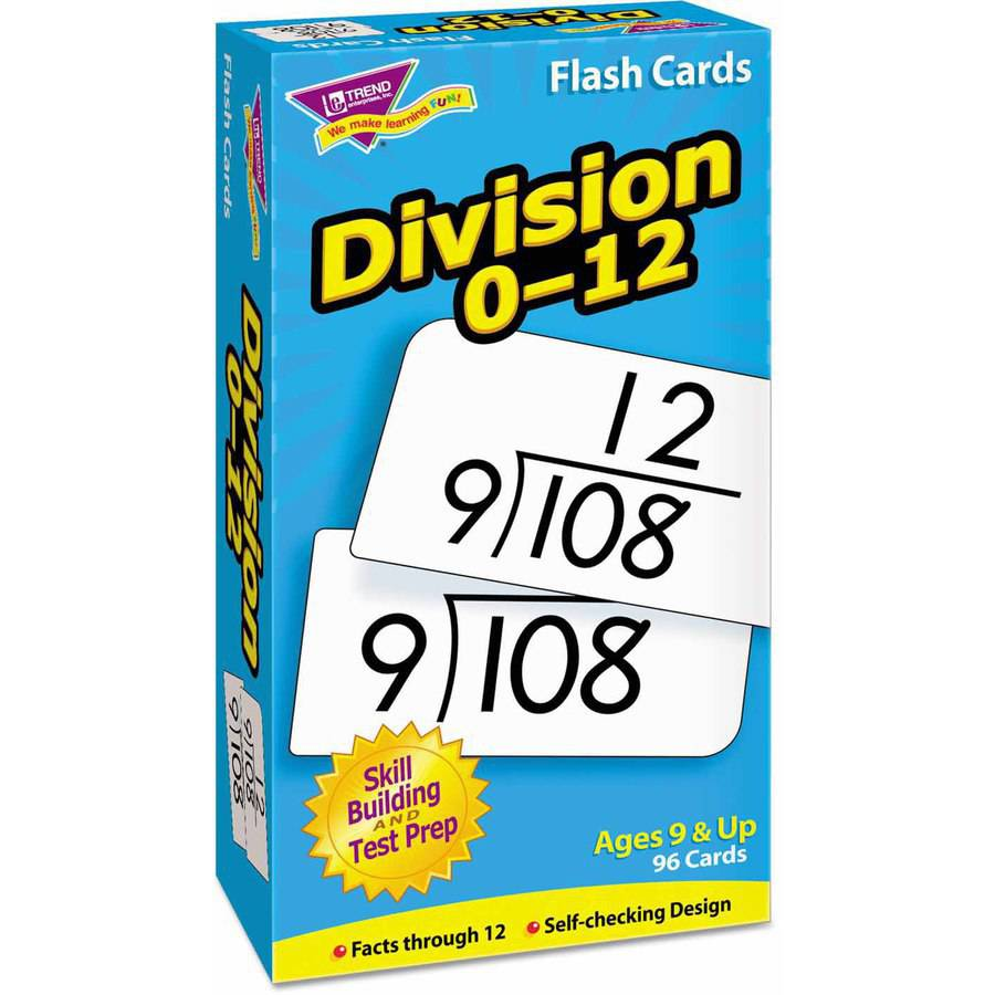 """TREND Skill Drill Flash Cards, 3"""" x 6"""", Division"""