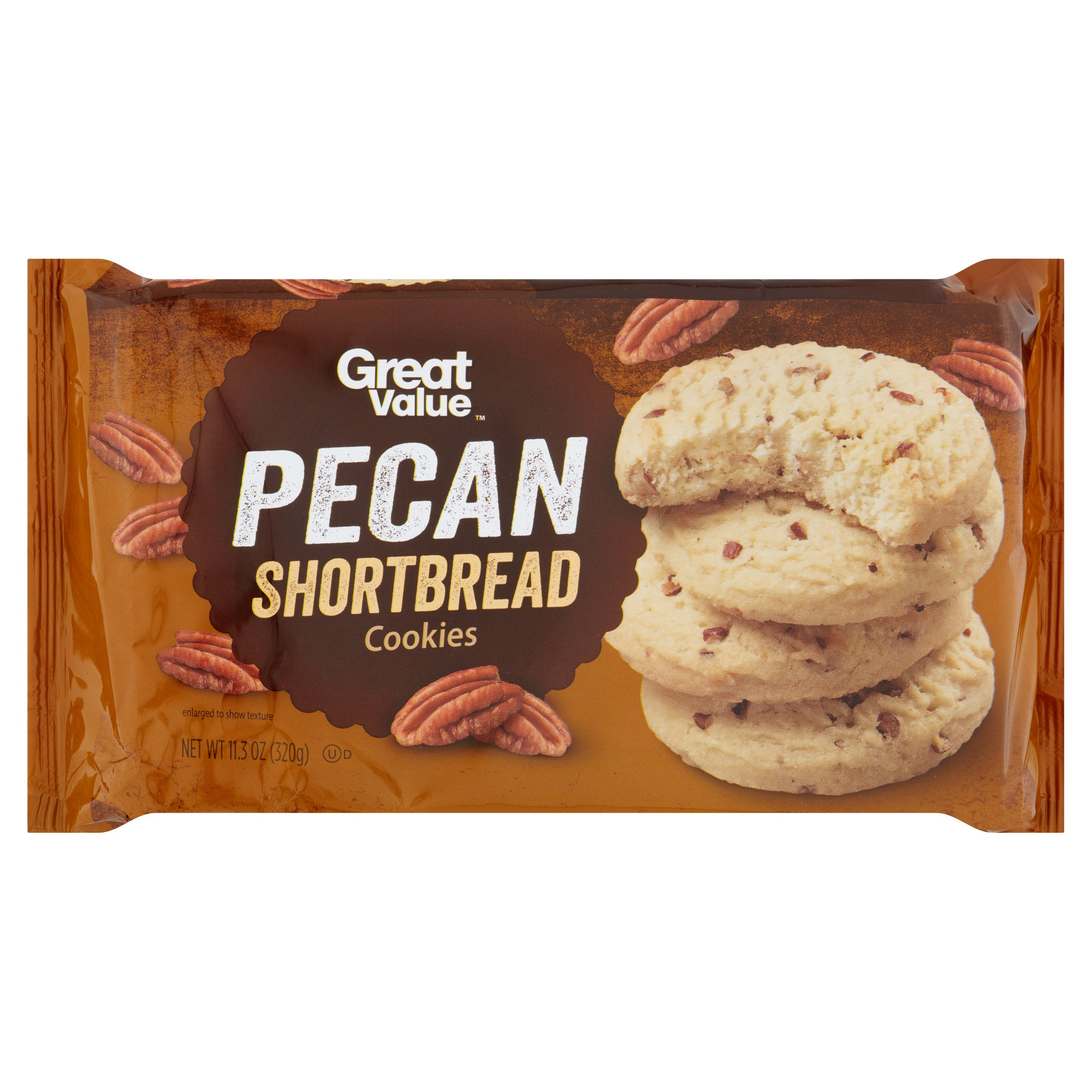 Great Value Pecan Shortbread Cookies, 11.3 oz