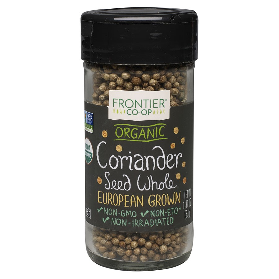 Frontier Natural Products Organic Coriander Seed Whole, 1.31 Oz