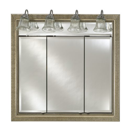 Afina Signature Traditional Lighted Triple Door 47W x 40H in. Recessed Medicine Cabinet