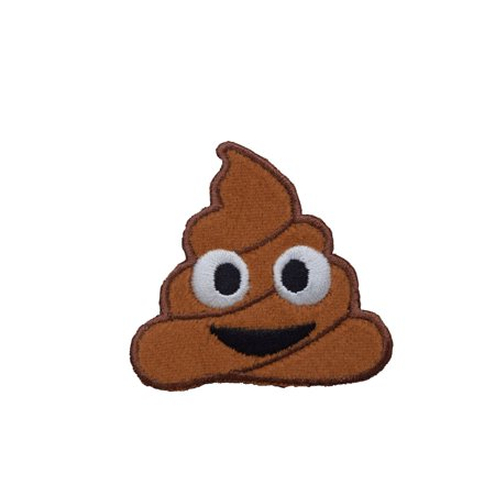 Emoji Poo - Iron on Applique - Embroidered Patch (Handmade Appliques)