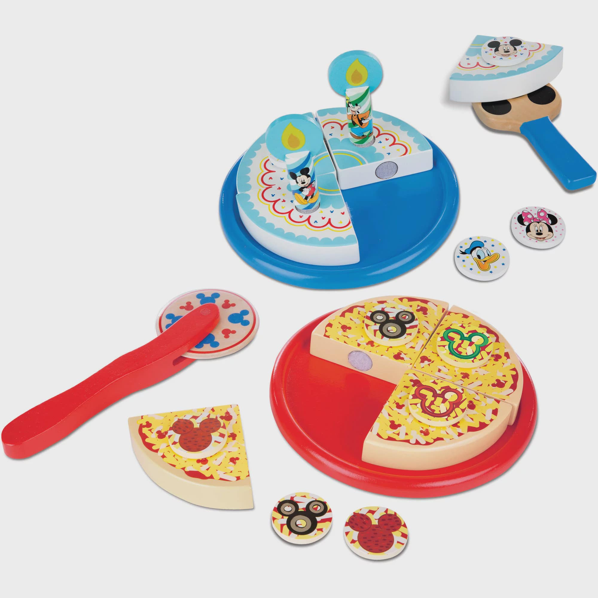 Astounding Melissa Doug Disney Mickey Mouse Wooden Pizza And Birthday Cake Personalised Birthday Cards Bromeletsinfo