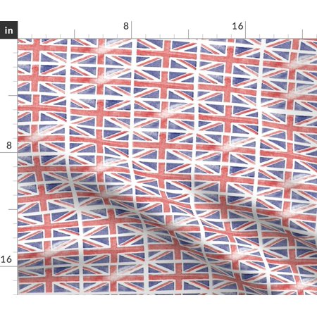 Union Jack Uk British Flag Novelty Royal Fabric Printed by Spoonflower BTY Fabric Printed Felt