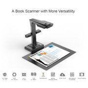 CZUR ET16 Book and Document WI-FI Smart Scanner Reader with OCR Techology Includes Hand and Foot Pedal Scan Button (Black)