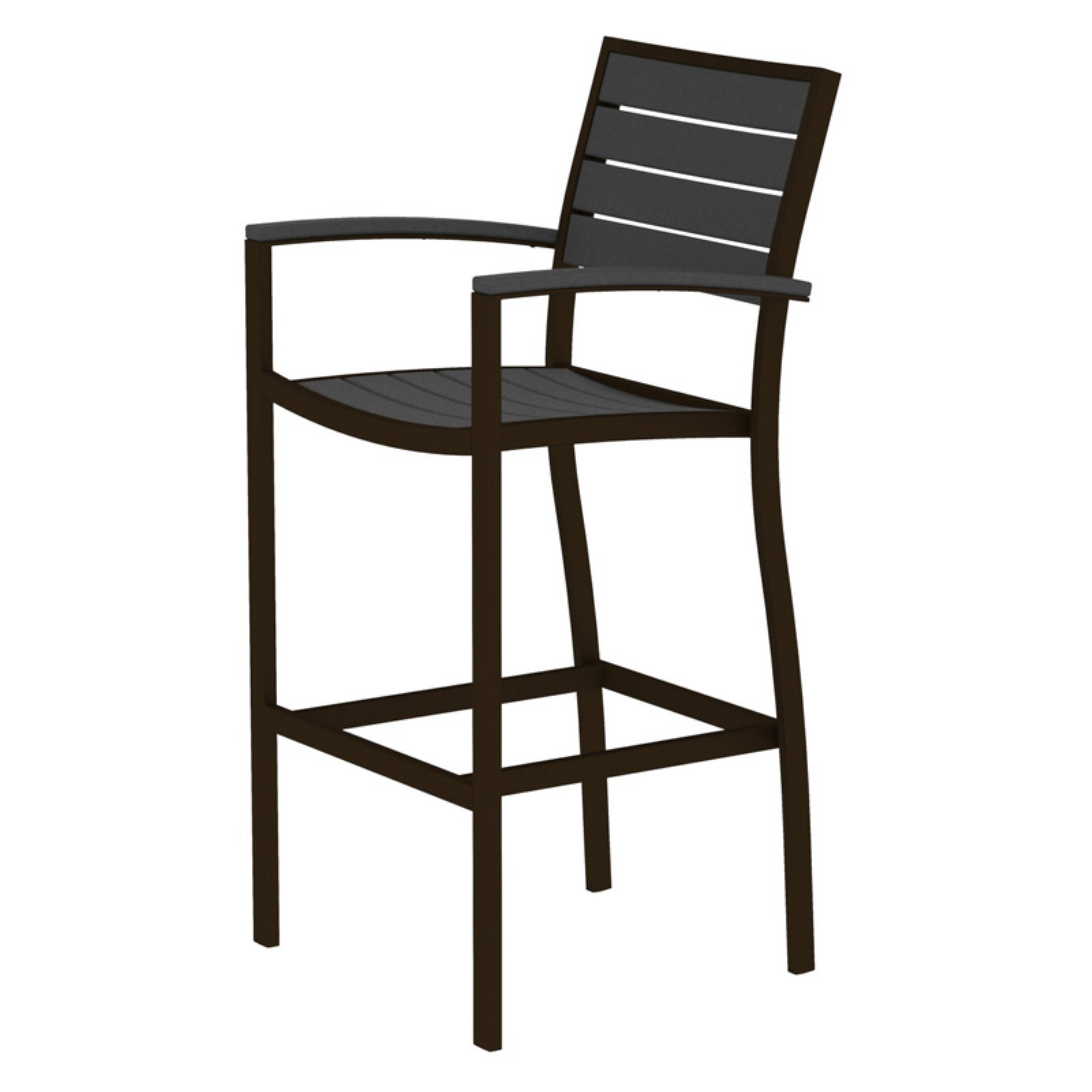 POLYWOOD® Euro Bar Arm Chair with Aluminum Frame