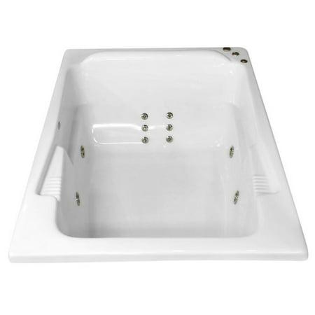 Carver tubs hygienic aqua massage 71 39 39 x 48 39 39 whirlpool bathtub - Aqua whirlpools ...