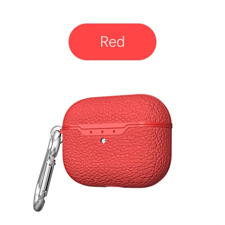 Airpods Pro Case, Airpods 3 Case, Allytech Premium PU Leather Cover Wireless Charging Box with Keychain Carabiner Full Protection Anti-scratch Shockproof Case Cover for Apple Airpods Pro, Red Note: AirPods Pro Cover Case, Airpods Pro is NOT included.ONLY Design for Apple AirPods Pro 2019 released.Product features:Specially designed for airpods pro, perfect fit and provide full protectionProtect your airpods pro from scratch,stain etc, anti shock and impact.Precisely cutout offer an easy access for charging port.Portable carabiner allows you to hang on your bags when you are walking, running, hiking, riding.High-quality PU Leather cover+PC inner, provides an elegant and luxurious look with durability.