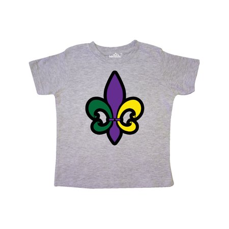 Fleur De Lis Mardi Gras Holiday Toddler T-Shirt](Toddler Mardi Gras Outfits)