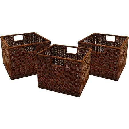Brown Oval Basket - Generic Wicker Baskets - Set of 3