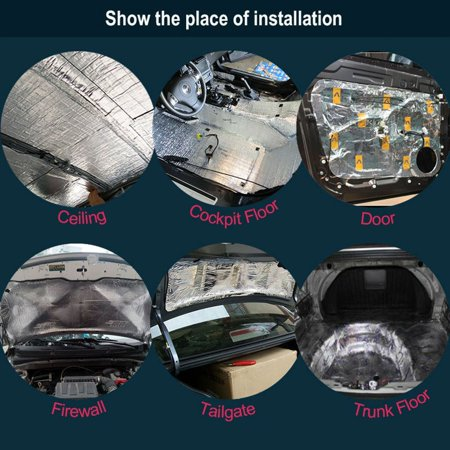 Automotive Sound Deadener Heat Insulation Deadening Material Proof Mat, 55'' x 39'' - image 3 of 6