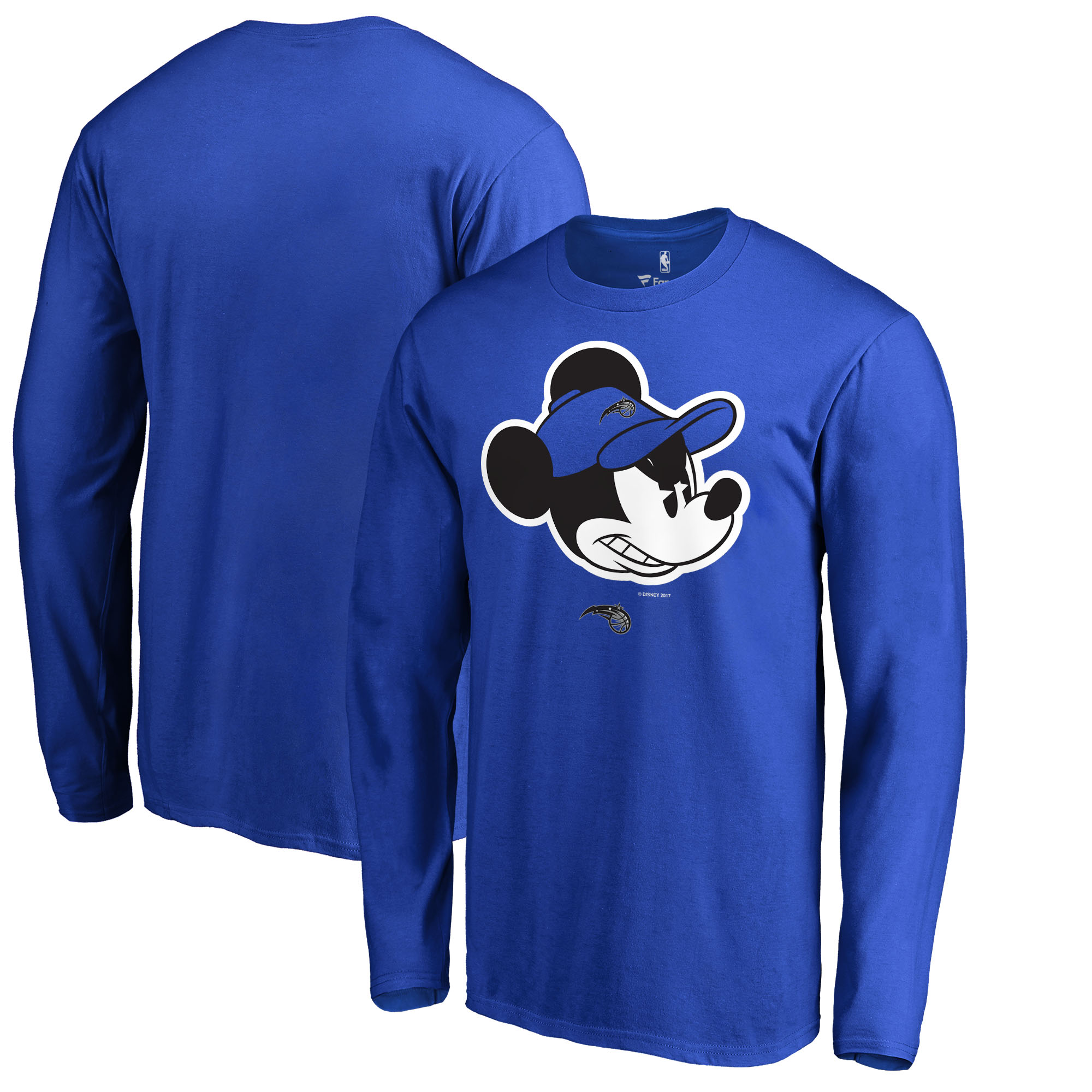 Orlando Magic Fanatics Branded Disney Game Face Long Sleeve T-Shirt - Blue