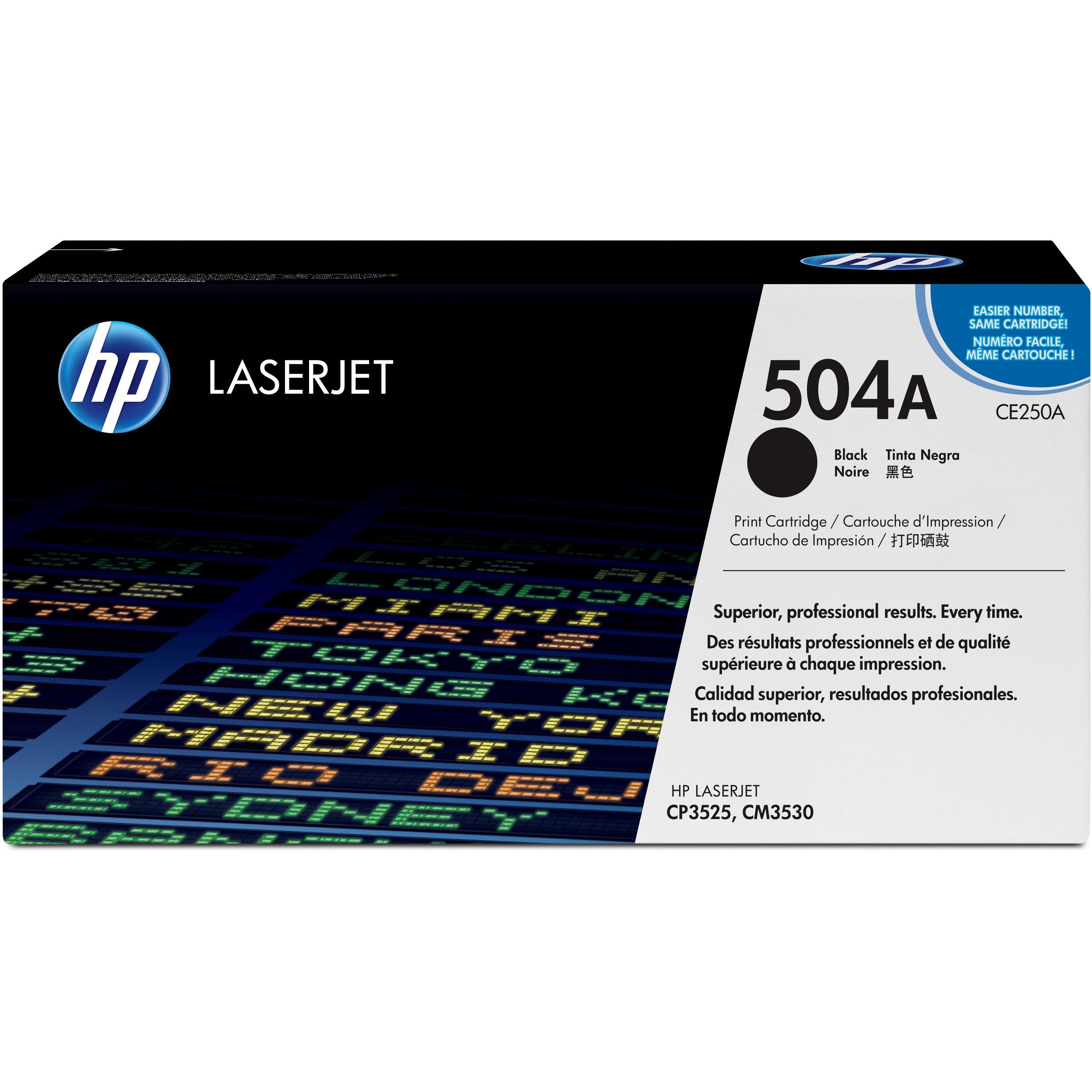 HP 504A (CE250A) Black Original LJ Toner Cartridge