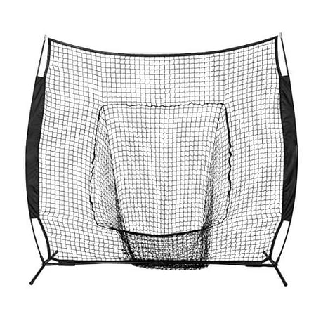 Multi Sport Training Net - UBesGoo 7' x 7' Portable Baseball Net Training, with Carry Bag,  for Softball Hitting Pitching Batting Catching, Black