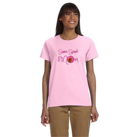 Carolines Treasures SS4786PK-978-XL Pink Sussex Spaniel Mom T-Shirt Ladies Cut Short Sleeve, Extra Large - image 1 de 1