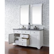 James Martin 238-104-V60D-CWH 60 in. Savannah Double Vanity Cabinet, Cottage White