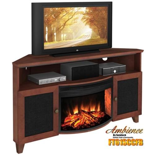 """Shaker Style Corner 61"""" TV Stand with Curved Electric ..."""