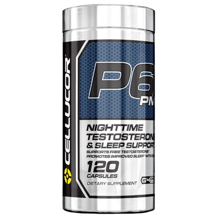 Cellucor P6 PM Sleep Aid Testosterone Support Capsules, 120 Ct