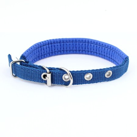 Unique Bargains Blue Faux Leather 2cm Width Adjustable Cat Dog Doggy Puppy Collar Rope