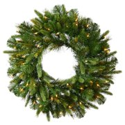 """Vickerman 42"""" Cashmere Artificial Christmas Wreath with 100 Clear Lights"""