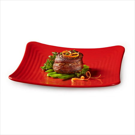 Red Square Plates (Red Sensation 10.25 inch Square Plate Melamine/Case of)