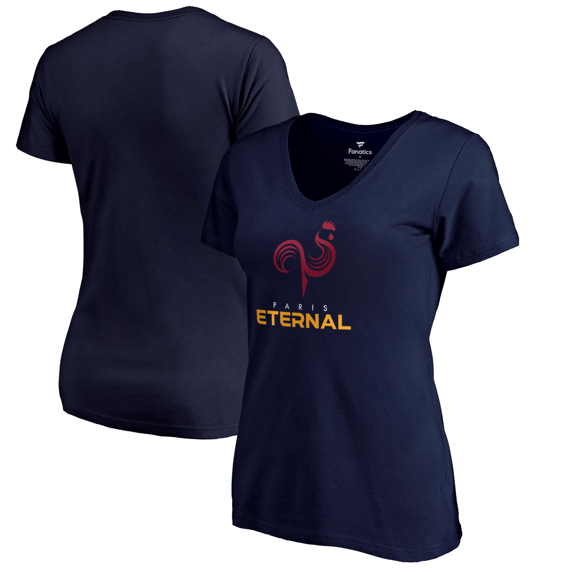 Paris Eternal Fanatics Branded Women's Team Identity V-Neck T-Shirt - Navy