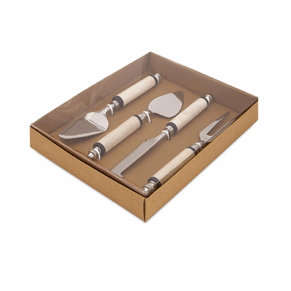 Captivating Bone Handle Cheese Knives With Gift Box