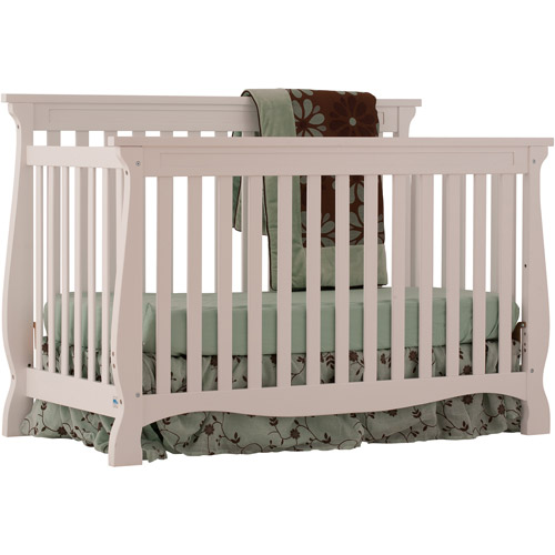 Storkcraft - Carrara Fixed-Side Convertible Crib, White