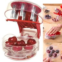 WALFRONT Cherry Pitter, Professional Cherry Stone Remover Home Office Travel Kitchen Fruit Stone Extractor Tool - 6 Cherries