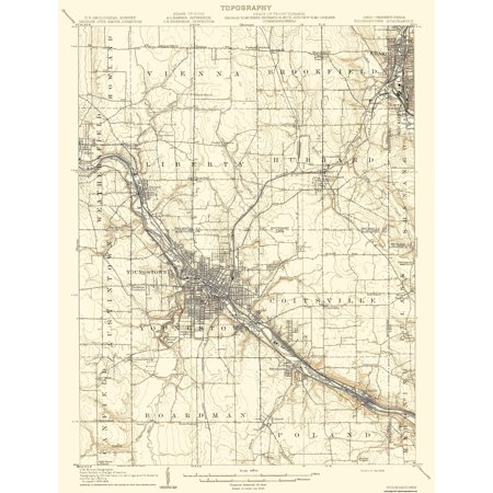 Pennsylvania And Ohio Map.Topographical Map Youngstown Pennsylvania Ohio Quad Usgs 1908