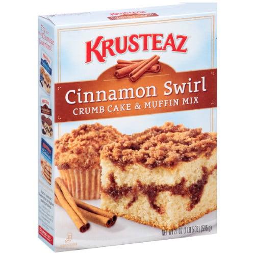 Krusteaz Cinnamon Swirl Crumb Cake & Muffin Mix (Pack of 2)