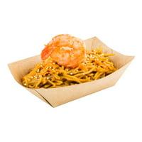 "Paper Food Boat - Kraft - 3.3"" - Small - 400 Count Box"