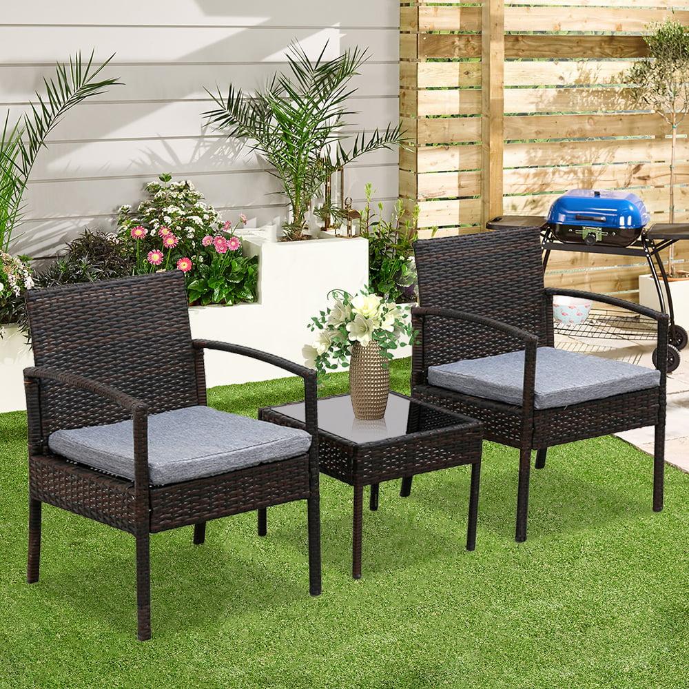 Oshion 3 Piece Patio Furniture Set Wicker Rattan Outdoor ...