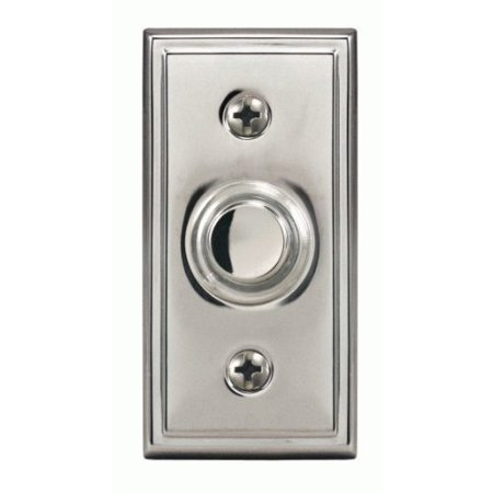Heath Zenith 601-SN Wired Halo Lighted Push Button, Satin Nickel