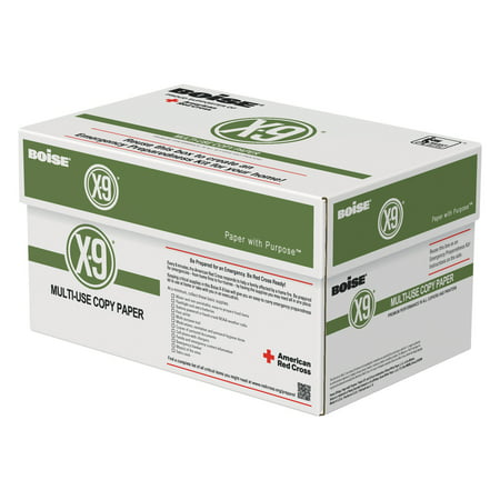 Boise X-9 Multi-Use Copy Paper, 92 Bright, 20lb, 8-1/2 x 11, 5000 Sheets