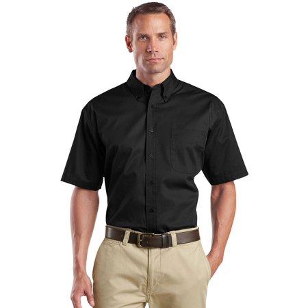 - Men's Short-Sleeve Stain Resistant Twill Shirt
