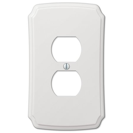 AmerTac 37D Classic White Composite Wall plate