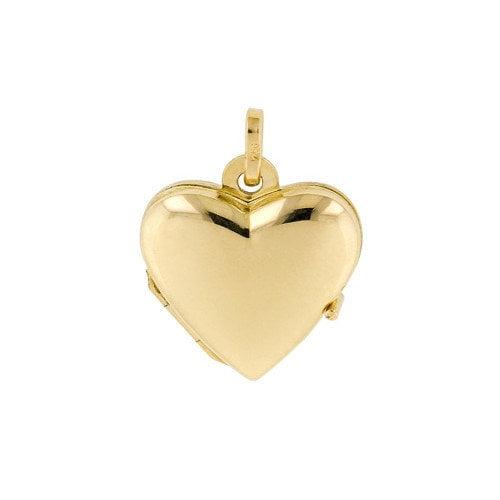 Jewelryweb 18k Yellow Gold Heart Locket Pendant