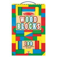 Melissa & Doug 100 Piece Wood Blocks Set MCI EA